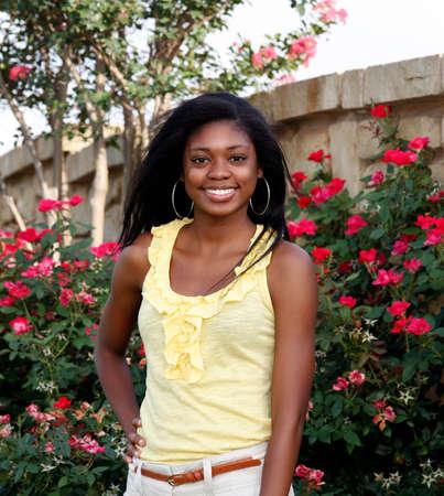 black teens: Beautiful African-American teenage girl