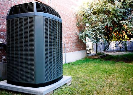 aire acondicionado: Alta eficiencia unidad de aire acondicionado Calentador moderna, energ�a guardar soluci�n