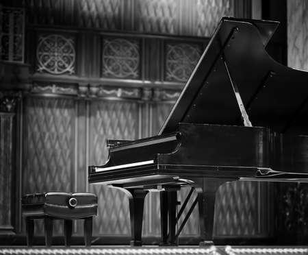 a grand piano: Concert grand piano Stock Photo