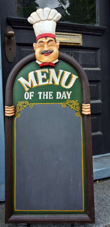 Menu of the day Stock Photo