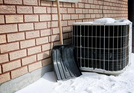 air pump: AC under snow