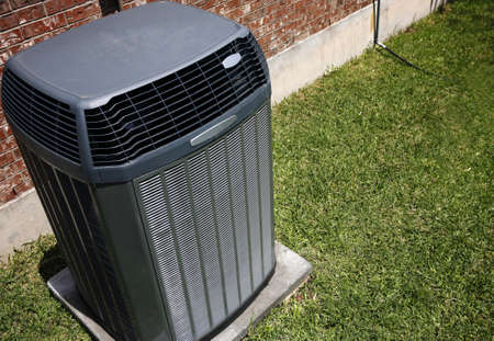 High efficiency modern AC-heater unit, energy save solution Stock Photo - 55934743