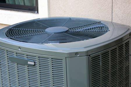 Close up of High efficiency modern AC-heater unit