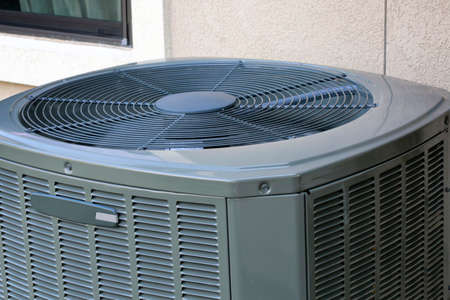 Close up of High efficiency modern AC-heater unit
