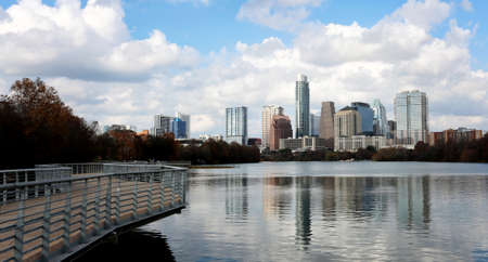 11th: Austin, Texas, January 1st, 2017: Austin, Texas, USA downtown skyline on the Colorado River.Austin is the capital of the U.S. state of Texas. It is the 11th-most populated city in the U.S. Editorial