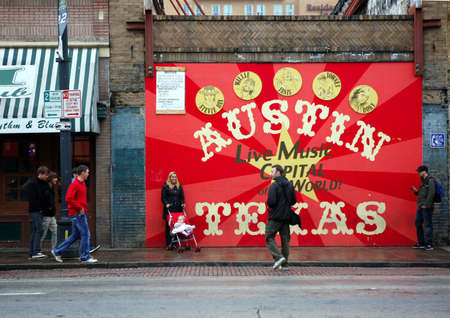 AUSTIN, TEXAS - MAR 9: SXSW 2017 South by Southwest 2017 Annual music, film, and interactive conference and festival on March 9, 2017 in Austin, Texas. Festival is held from March 9-18. Poster on 6 street Editorial