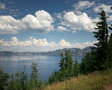Crater Lake National Park. Crater Lake is the deepest lake in the United States - and one of the most beautiful. Standard-Bild - 107410373