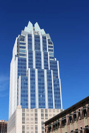 Austin, Texas, March 14, 2019. Downtown landmark - Frost Bank Tower Editorial