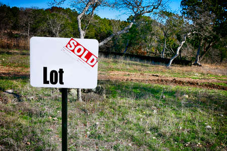 Land sale. Sign