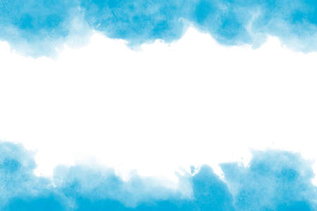 Light blue watercolor background hand-drawn with space for text or image Foto de archivo - 133753193
