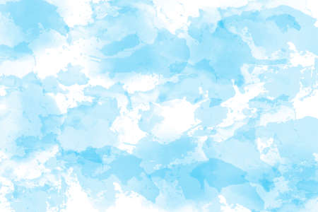 Light blue watercolor background hand-drawn with space for text or image Foto de archivo - 133753196