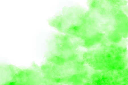 Light green watercolor background hand-drawn with space for text Foto de archivo - 133753210