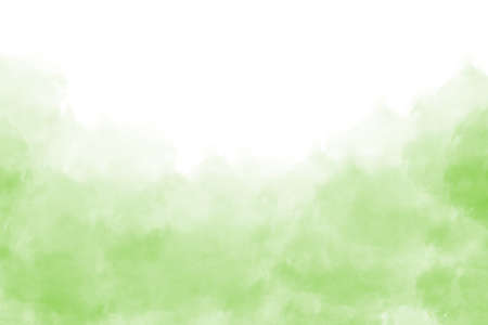 Light green watercolor background hand-drawn with space for text Foto de archivo - 133753214