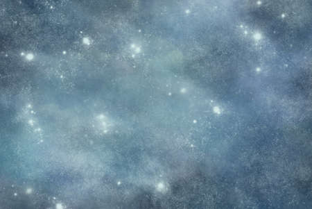 abstract green and blue background with stars and snowflakes Stock Photo
