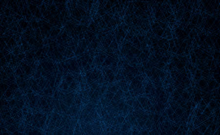 Black texture with classic blue geometrical lines background with space for text or image