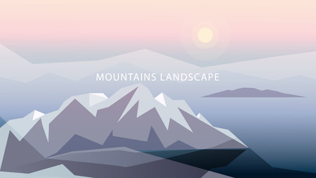 Highlands in gentle tones vector illustration.
