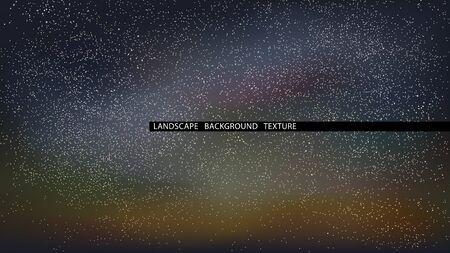 Landscape starry night vector illustration. Northern Lights. EPS10 Vectores