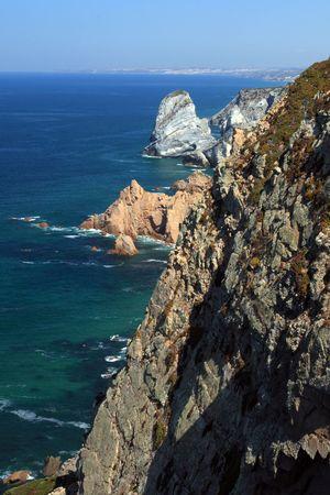 sintra: Rocks near the Cape Roca, Sintra, Portugal