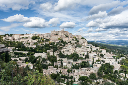 gordes: Gordes, one the most beautiful villages of France Stock Photo
