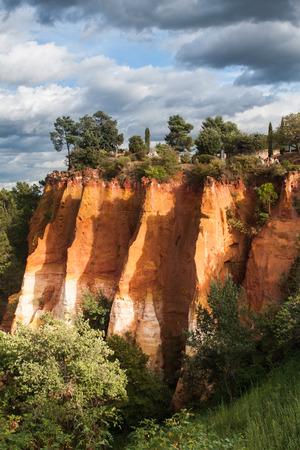 ochre: Ochre guarry in Roussillon, France