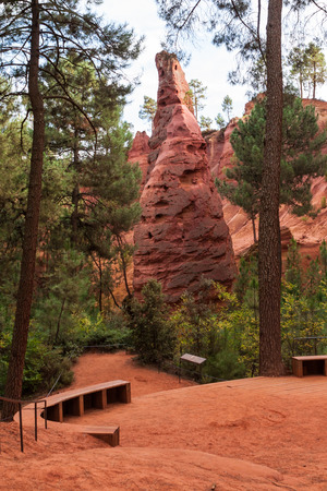 roussillon: Ochre guarry in Roussillon, France