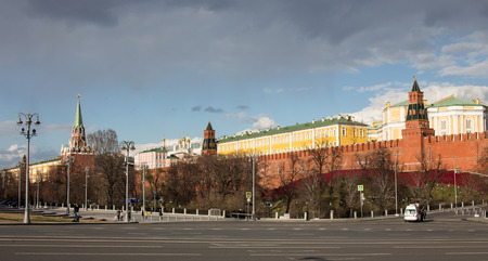 View to Moscow Kremlin in good weather
