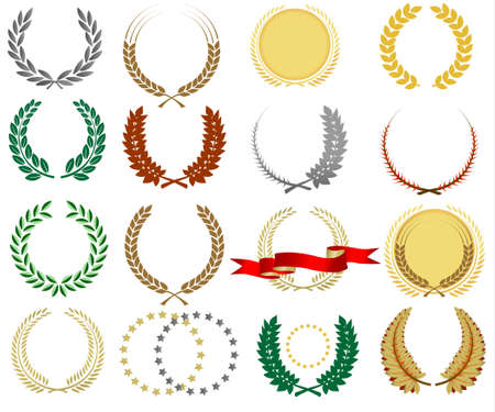 Laurel wreathes collection for highlighting titles  Vector