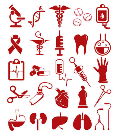 Various medical instruments used in medicine  Vector