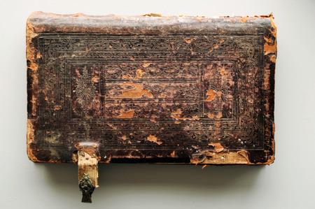 Античный кожаный обложка книги фона.