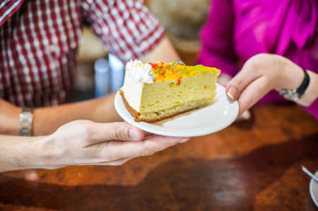 pastrie: Engagement ring in a piece of cake