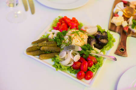 pickles: Pickles: salted tomatoes, cucumbers cabbage mushrooms garlic