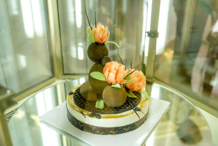 abundance: The abundance of a variety of sweets and cakes, catering service sweet table