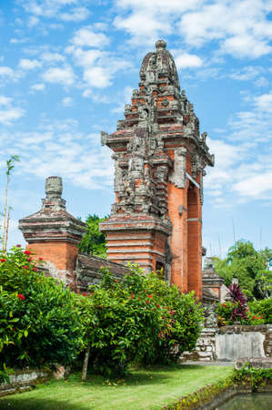 building lot: Traditional Balinese Induzm Temple Bali, Indonesia, Travel concept