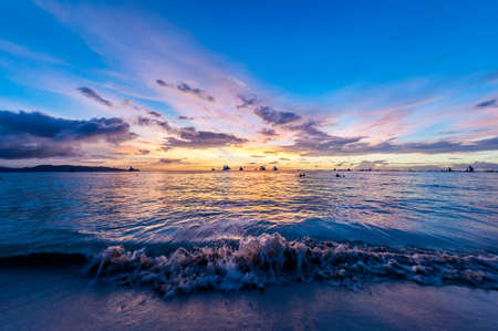behold: Sunset over the sea on Boracay Island, Philippines