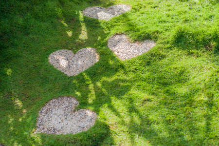 The path in the form of a heart. Love Concept. Valentines Day Concept Stock Photo