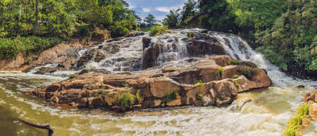 panoramas: Big panorama of Beautiful Camly waterfall In Da Lat city,