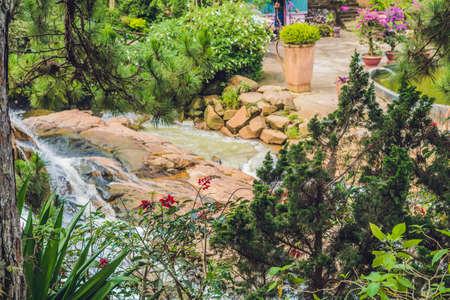 Beautiful Camly waterfall In Da Lat city,