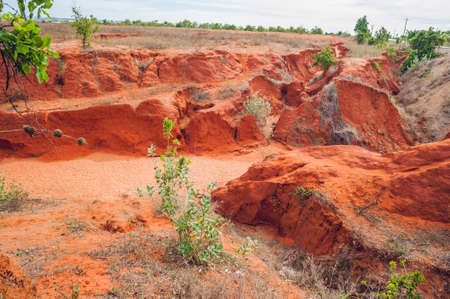 slot canyons: red canyon near Mui Ne, southern Vietnam. Stock Photo