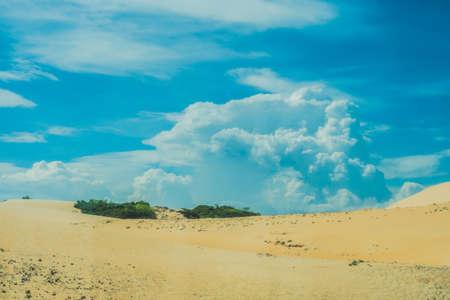 Yellow sand in the desert, Mui Ne, Vietnam