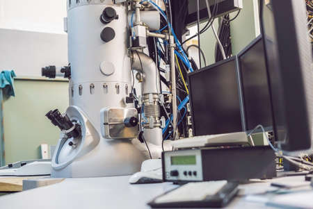 Transmission electron microscope in a scientific laboratory. Archivio Fotografico