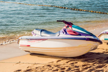 Jetski on the beach in Phu Quoc, Vietnam.