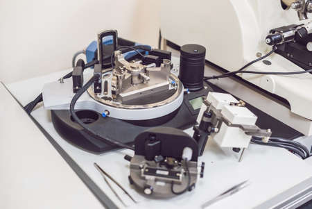 atomic force microscope in a microscopic laboratory Stock Photo