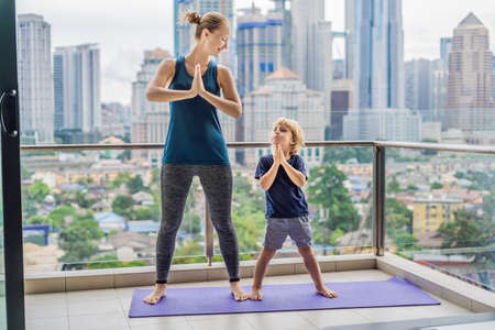 Mommy And Son Yoga
