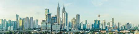 Panorama of Kuala Lumpur in the morning.
