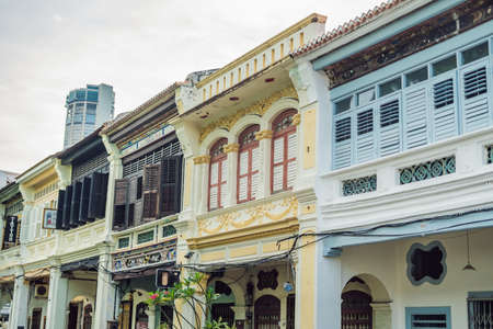 Old houses in the Old Town of Georgetown, Penang, Malaysia. 写真素材