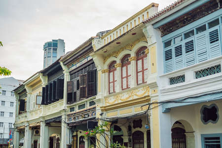 Old houses in the Old Town of Georgetown, Penang, Malaysia. Standard-Bild
