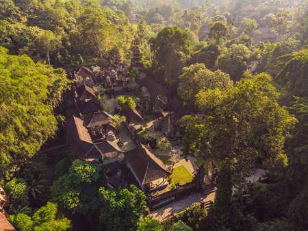 Aerial shot of the Pura Gunung Lebah temple in Ubud on the Bali island. Stock fotó - 112512788