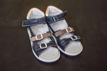Childrens orthopedic shoes. Thomas Heel, arch support