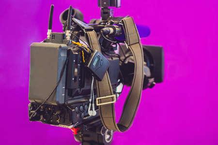 TV NEWS studio with camera and lights