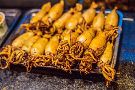 Street foods - Grilled squid Wangfujing night market